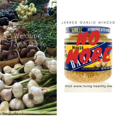 Goodbye Jarred garlic minced