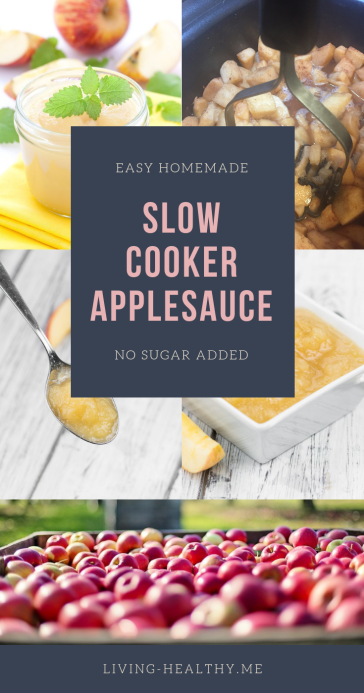 Easy Homemade Slow Cooker Applesauce (No Sugar Added)